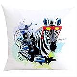 QZF Zebra sostiene cojín de Almohada en la Almohada del sofá de la Sala de Estar del hogar 45 * 45cm Eye Zebra