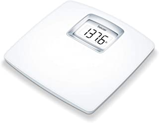 Beurer High Precision Body Weight Digital Bathroom Scale with Easy to Read, XL LCD Display, White Illumination, Auto Calibration, Step on and Zero, Batteries Included, 400 lb. Capacity, PS25