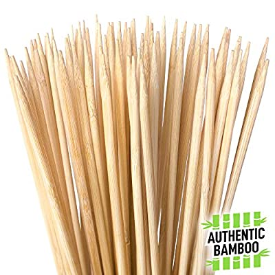 """Authentic Bamboo Marshmallow Roasting Sticks, Perfect for S'Mores, Includes 40 Extra Long 30"""" Bamboo Skewers with 5mm Heavy Duty Thickness, Ideal for Grilling Hot Dogs, Kebabs & More - by Zulay"""