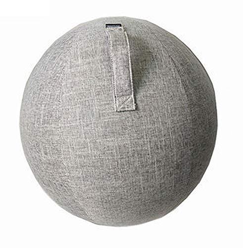 MeTikTok 55Cm/22Inch Yoga Ball Abdeckung, Gymnastikball Bezug Für Sitzball Fitnessball Gymnastikball Mit Tragegriffen Sitzen Ball Stuhl Protect Covers Slipcover,Grau