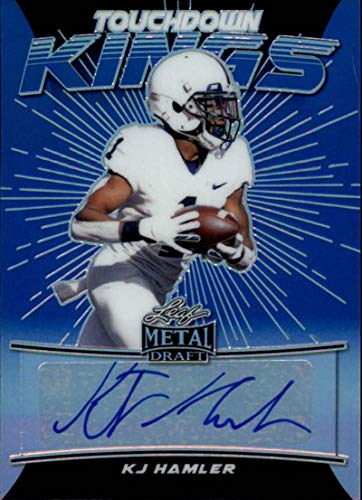 2020 Leaf Metal Draft Touchdown Kings Autograph Rainbow Prismatic Blue Football S35#TK-KH2 KJ Hamler Auto Penn State Nittany Lions Official Player Licensed Rookie Card