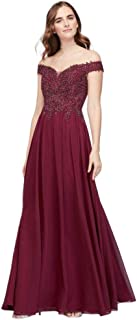 2dfcfc11d2 Chiffon Sheath Prom Dress with Sheer Corded Lace Bodice Style 1017BN