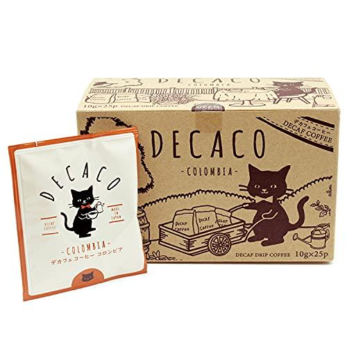 【DECACO (デカコ)】 デカフェ コーヒー コロンビア ドリップコーヒー 10g×25P
