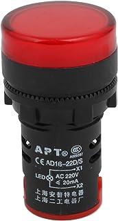 sourcing map 3Pcs Lampe t/émoin AC//DC12V Clignotant indicateur Panneau alarme buzzer LED verte
