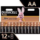 Duracell Plus, lot de 12 piles alcalines Type AA 1,5 Volts LR6 MX1500 (visuel non contractuel)
