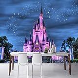 JFSZSD Fotomural Fantasía y castillo 250CMx175CM Vinilo Pared Infantil Interior|Fotomurales pared|Fotomural Decorativo Decoración comedores