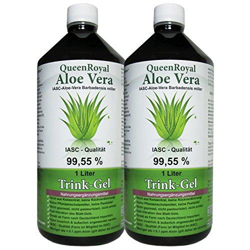 QueenRoyal Aloe Vera Trink Gel 99.55% pur 2 Liter Sparpack. 30256 G