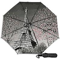 Paris Eiffel Tower 防風二重層通気性トラベル傘、サン傘、防水コーティング生地、持ち運びや旅行が簡単。