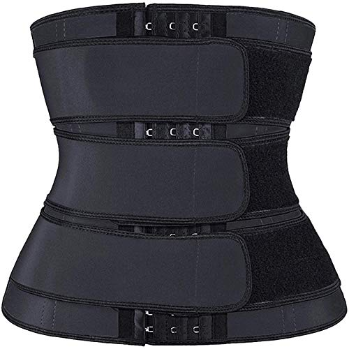 DIYHM Ware Forma Fajas Neopreno Sauna Cintura del corsé Trainer Sweat cinturón for Las Mujeres la pérdida de Peso de compresión Trimmer Fitness Workout Entrenador por la Cintura de Las Mujeres