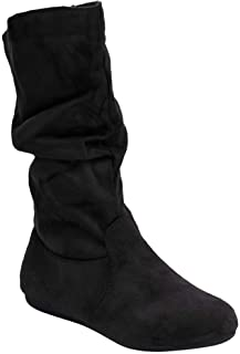 Women's Round Toe Slouchy Boot with Buckle