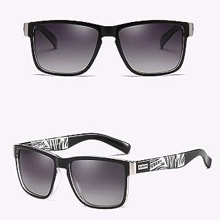 Templos De Fibra De Carbono Para Hombre Con Gafas De Sol Rectangulares De Metal Polarizado 8206