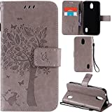 Ooboom® Huawei Y625 Hülle Katze Baum Muster Flip PU Leder