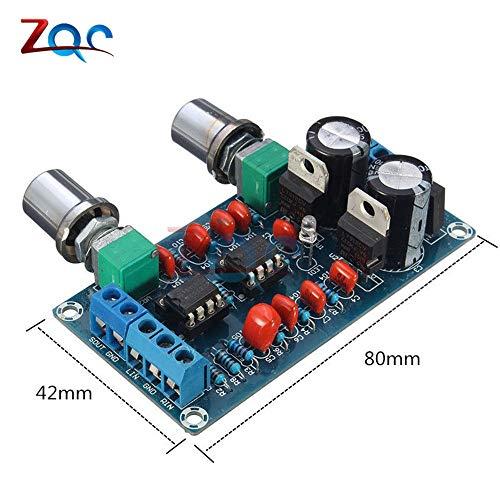 Low-Pass-Vorverstärker-Filter NE5532 Subwoofer-Volumen Prozess Schaltung Amplifer Board AC 9V-15V Stereo-Ton-Board