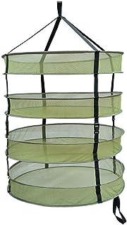 キャリングバッグ付き4/6層吊り干しラックネット、取り外し可能な水耕栽培プラントは、ハーブ野菜や芽を乾燥させるためのラックを育てます,4 layer,2FT