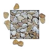 25 kg Kalksteinsplitt Jura Hellbeige Gartensplitt Ziersplitt Deko Kalkstein Dekoration Splitt Körnung 22/32 mm