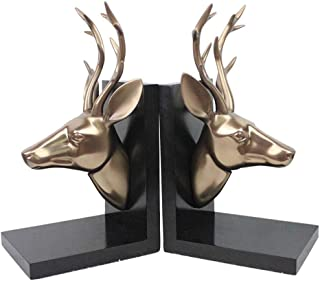 Liudan Bookends Nonskid Bookends Elephant Resin Sculptural Bookend Art Bookend 1 Pair Black Bookends Decorative