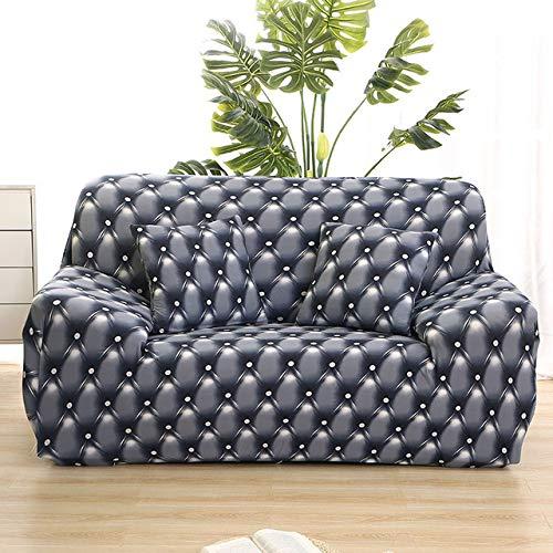 ZWL Universele Elastische bankovertrek voor sofa, hoekbank, bankovertrek voor meubelsofa 1-seat 90-140cm Kleur 14