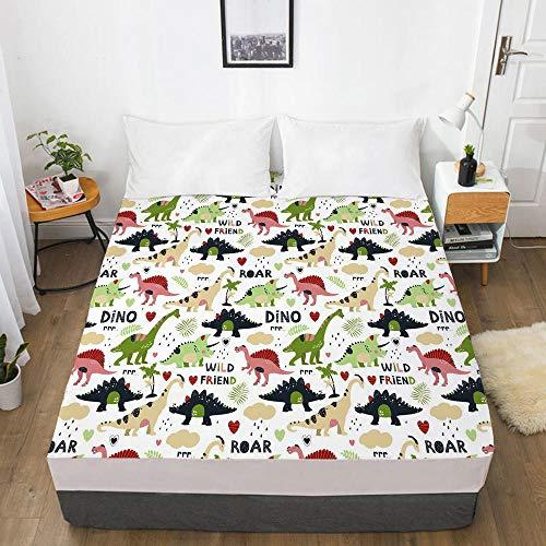 HNLHLY Matratzenbezug Digitale Heimtextilien 3D Bettlaken Bettdecke Matratze Schutzhülle Cartoon Kinder-Cartoon 121-Weiß-F_200 X 220 X 30 cm