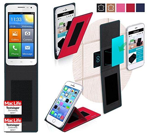 reboon Hülle für Elephone G3 Tasche Cover Case Bumper | Rot | Testsieger