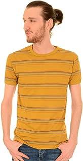 Run & Fly Mens 60s 70s Indie Sunset Stripe Retro T Shirt