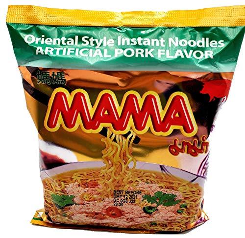 Mama Oriental Style Instant Ramen Noodles Artificial Pork Flavor (10 Pack)