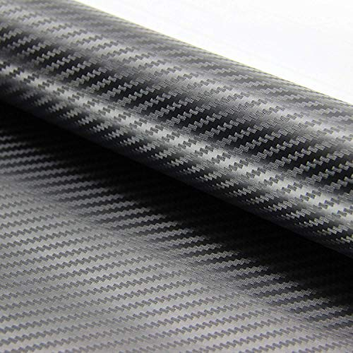 ZOEON 2 Rollos 3D Fibra de Carbono Envoltura Adhesiva para Coche, 1520 x 300 mm Pegatinas de Vinilo Coche