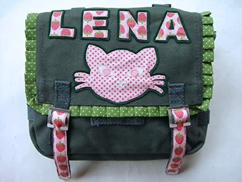 Umhängetasche mit Katze, Tasche für Mädchen, personalisierte Umhängetasche, Schultertasche, Umhängetasche
