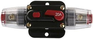 DC 12V Car Audio 20 Amp Inline Circuit Audio Breaker Fuse Holder Manual Reset Switch