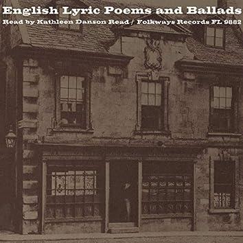 English Lyric Poetry: Read by Kathleen Danson Read