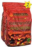 Original Natural Charcoal Hardwood Briquettes 2 X 100% Premium All-Natural Pillow Shaped Charcoals -...