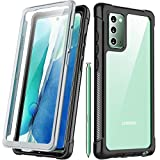 Redpepper for Galaxy Note 20 Case, Built-in Screen Protector Full Body Heavy Duty Shockproof Case Support Wireless Charging for Samsung Galaxy Note 20 6.7 inch 2020 Release (Black/Clear)