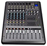 Rockville RPM870 8-Channel 6000w Powered Mixer, USB, Effects For Church/School