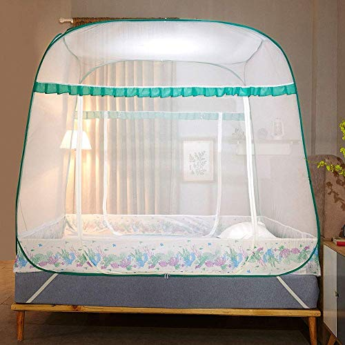 GANG Anti Mosquito Redes Pop Up Mosquito Net Bed Tienda con la Parte Inferior 200 (L) 180 (W) 170 (H) Mosquito S Portátil Plegable para Niños Pequeños para Niños Adultos Portátil /