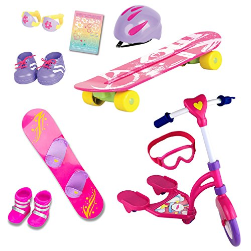 12-Piece Sports Set by Beverly Hills Doll Collection