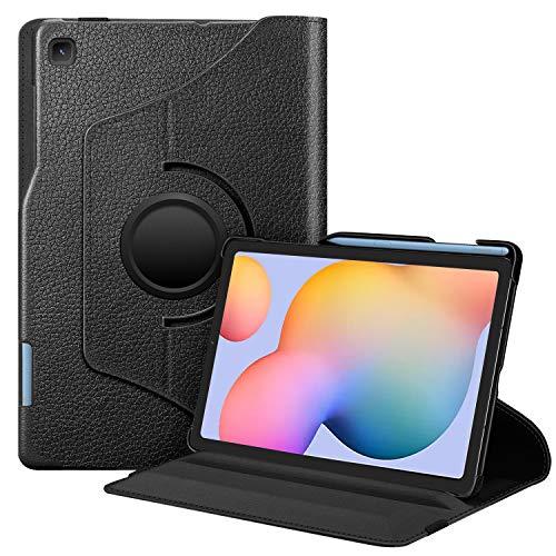 FINTIE Coque pour Samsung Galaxy Tab S6 Lite 2020 10.4 Pouces - Etui Rotation à 360 Degrés avec Porte-Stylo S Pen Housse Protection Fonction Veille/Réveil Automatique pour SM-P610/P615, Noir