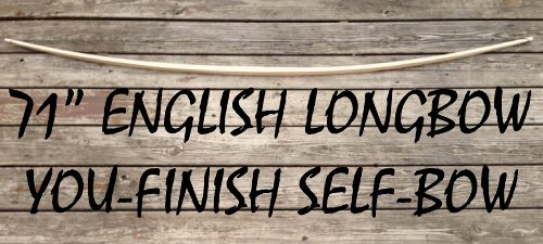 60lb You-Finish Traditional English Longbow! Hunting Bow! Custom Hickory Wood Archery!