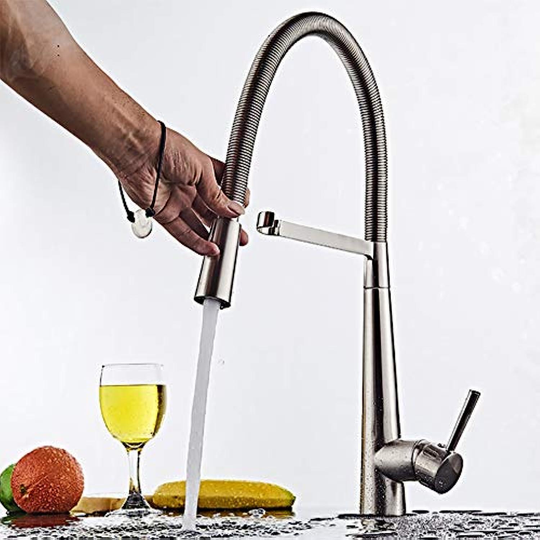 AA100 Rotierende Reine Kupferhahn Küchenspüle versenkbaren Frühlingskaumhahn hei und kalt Küchen-Wasserhahn [Energy Class A]