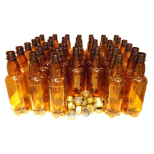 Plastic Beer Bottles & caps 500ml (pint) 20pk PET Amber Better Brew Homebrew NEW