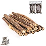 nuoshen 60 Pcs Cat Chew Stick, Natural Catnip Sticks Cat Chew Toys for Cat Kitten Kitty Teeth Cleaning