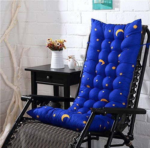 Kussen voor ligstoel, ligstoel met schommelstoel, van polyestervezel, antislip, zonder standaard, comfortabele ligstoel, van bamboe, inklapbaar, zitkussen 48x155x8cm D