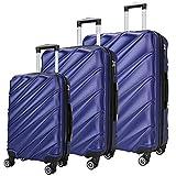 Maletas De Viaje SHAIK Set De 3 Piezas - 40/78/124 Capacidad De Litros – Cubierta Dura Y...
