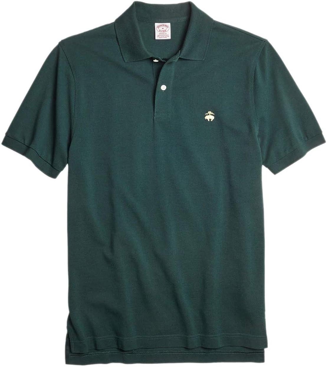 Brooks Brothers Men's Original Fit Performance Pique Cotton Polo Shirt Dark Green