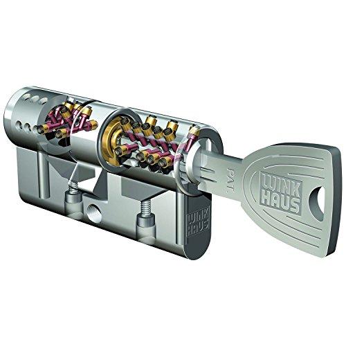 Lat/ón niquelado mate Wink Casa 9002730442724/empotrable Cilindro Doble Key Tec N X-tra 30//40