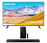 Samsung UN55TU8000 55' 8 Series Ultra High Definition Smart 4K Crystal TV with a Samsung HW-Q70T 3.1.2 Ch Dolby Atmos Soundbar with Wireless Subwoofer (2020)