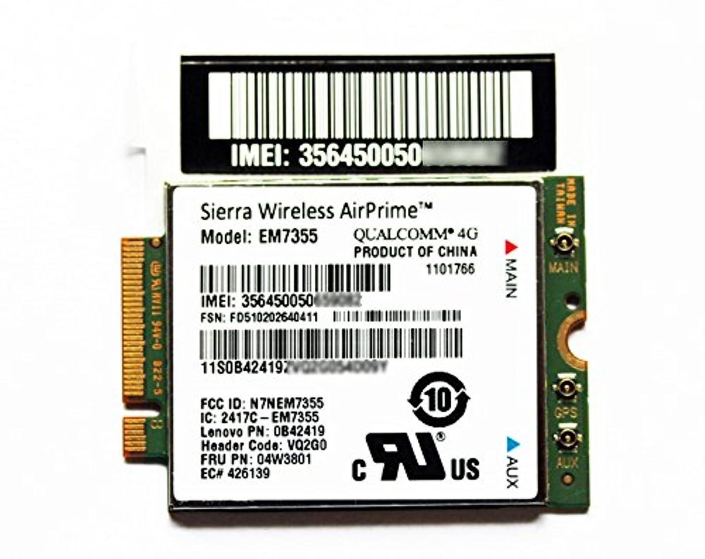 知り合いになる考えランプEconlineshop ThinkPad 純正 LTE 4G 3G M.2 NGFF WWANカード EM7355 (04W3801) X1 Carbon Gen 2 em7355