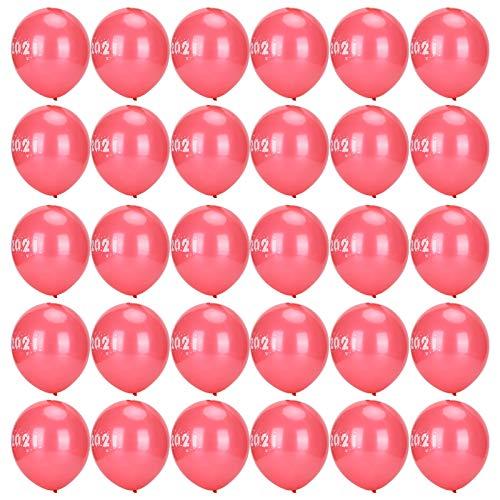 Aktivitäten Luftballons, Party Dekoration Luftballons, zarte hochwertige Neujahrsballons, für Party Neujahr Weihnachtshochzeit(red)