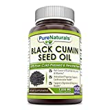 Pure Naturals 100% Pure Black Cumin Seed Oil 1000 Mg, Softgels -Supports Digestive & Respiratory Health -Support Cardiovascular Health -Rich Source of Essential Fatty acids & Vitamins (100 Softgels)