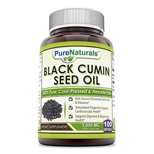 Pure Naturals 100% Pure Black Cumin Seed Oil 1000 Mg 100...