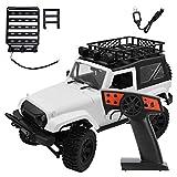 VGEBY RC Car Toy, 1:14 Escala 2.4G Control Remoto Simulación Escalada Coche 1/14 RC Vehículo de Cuatro Ruedas RC Crawler Toy para niños Juguete de Regalo para niños(Tipo de portaequipajes)