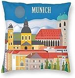 BONRI Stad Gebouw Poster München Duitsland Reiskaart